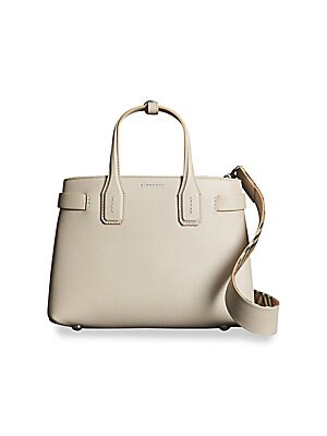 57f81f241d7 Burberry - Small Banner Leather Tote - saks.com