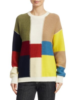 See By Chloe Multicolor Patchwork Sweater