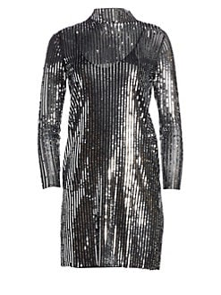 f111c70515264 Product image. QUICK VIEW. Tanya Taylor. Penelope Stripe Sequin Shift Dress