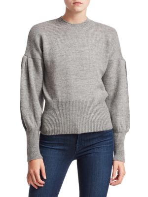 Tanya Taylor Lee Wool Puff Sleeve Sweater
