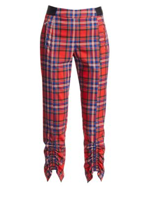 Tanya Taylor Carrington Plaid Cropped Pants