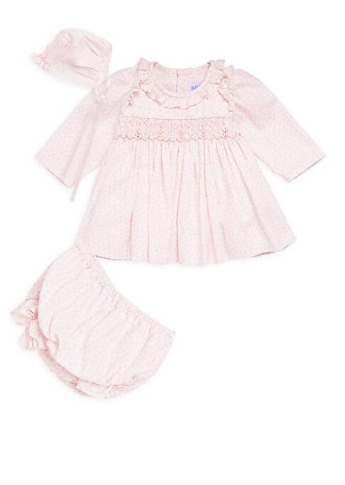 Baby Girls ThreePiece Floral Dress Hats  Briefs Set