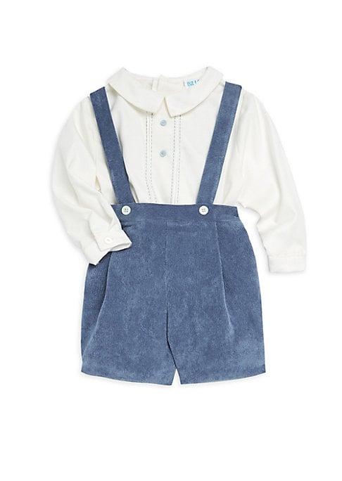 Baby Boys Corduroy Overall  Shirt Set