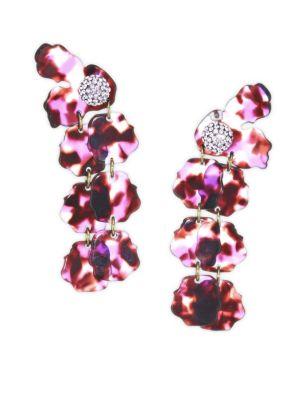 LELE SADOUGHI Hand-Swirled Petal Drop Earrings in Black Orchid