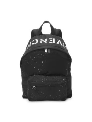 GIVENCHY Urban Logo Backpack, Black White