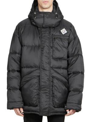 Black Oversized Hooded Puff Jacket