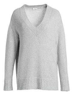 1dd4d2c9876d2b Product image. QUICK VIEW. Akris punto. Oversize V-Neck Knit Sweater.   795.00 · Flannel Wool Cold-Shoulder Blouse IVY