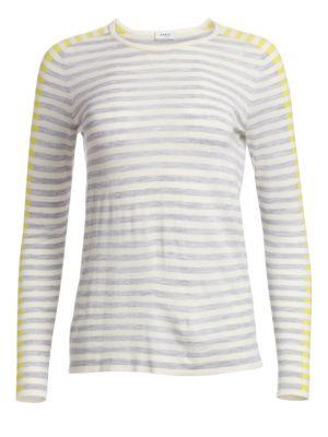Tricolor Stripe Wool Top by Akris Punto