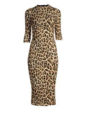 f65cfa18524f Alice + Olivia - Delora Leopard Print Bodycon Dress - saks.com