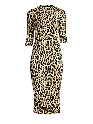 97fc9fb1197b Alice + Olivia - Delora Leopard Print Bodycon Dress - saks.com