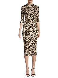ab1699c41864 Alice + Olivia. Delora Leopard Print Bodycon Dress