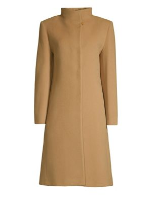 CINZIA ROCCA Wool-Blend Walking Coat in Camel