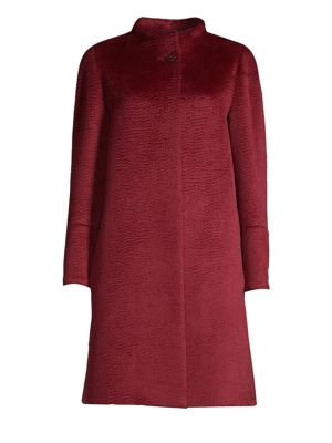 CINZIA ROCCA Long-Sleeve Walker Jacket in Cherry