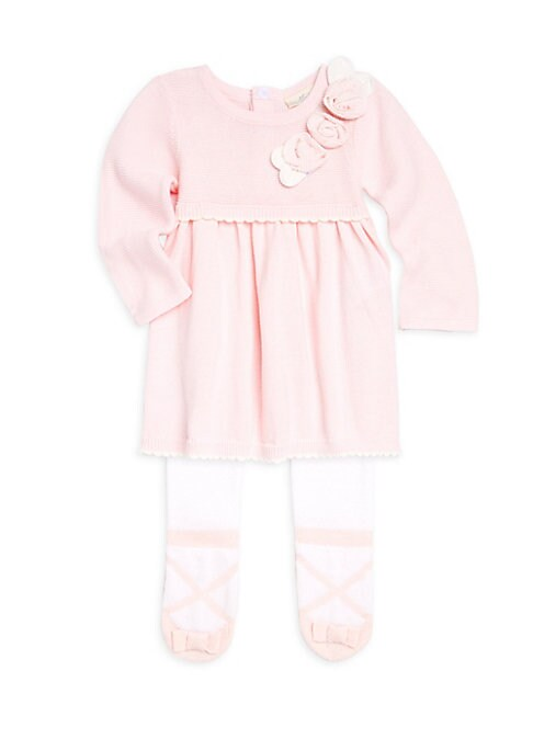 Baby Girls TwoPiece Sweater Dress  Footed Tights Set