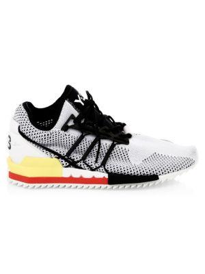 Y-3 Men'S Harigane Mesh Running Sneakers in White