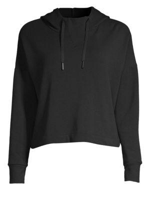 BEYOND YOGA Sedona Cropped Pullover Hoodie in Black