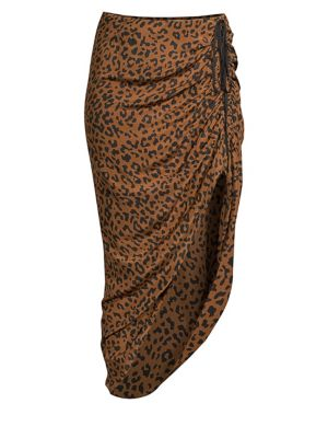 Asymmetrical Ruched Midi Skirt by Diane Von Furstenberg