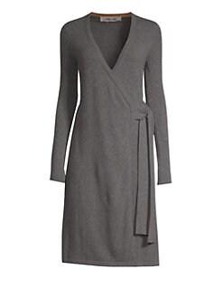f29586303121 QUICK VIEW. Diane von Furstenberg. Knitted Wrap Cashmere Dress
