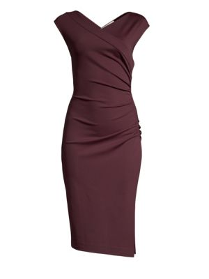 Ruched Cap Sleeve Sheath by Diane Von Furstenberg