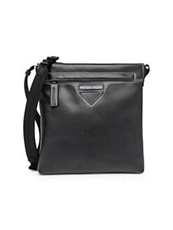Prada. Grace Lux Print Leather Messenger Bag 4a27da5db6fe7