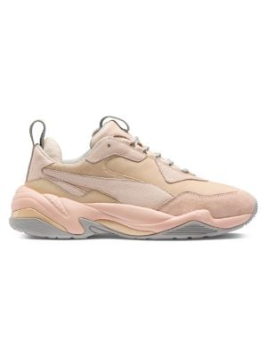 Women'S Thunder Drift Leather & Suede Lace Up Sneakers in Neutrals from ASOS