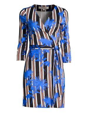 Diane Von Furstenberg Silks Julian Wrap Dress