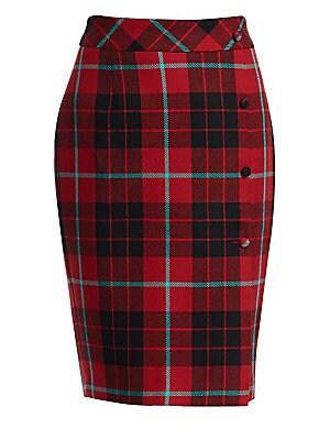 28c965c1dc Each X Other - Tartan Wool Pencil Skirt - saks.com