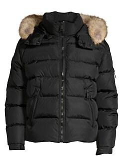 ca8924ccd492 Sam. Matte Arctic Coyote Fur-Trim Down Puffer Jacket