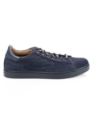 Gianvito Rossi Denim Low-Top Sneakers