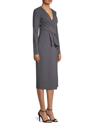 Jason Wu Pleat Wool Sheath Dress
