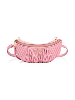 Ruched leather belt bag Miu Miu Cavmalid