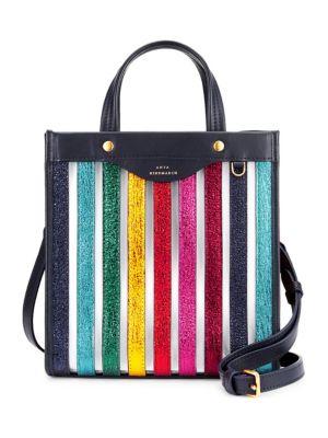 Small Multicolor Striped Tote Bag