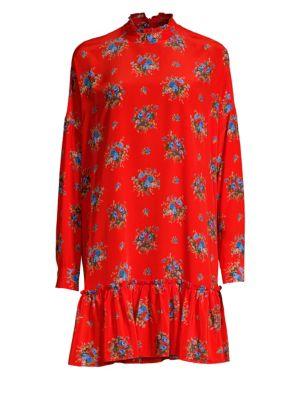 Kochhar Short Dress In Fiery Red