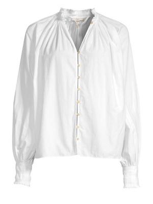 Rickelle Cotton Poplin Blouse by Joie