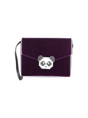 Les Petits Joueurs Lulu Velvet Panda Crossbody Bag