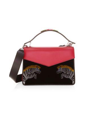 Les Petits Joueurs Mini Pixie Zebra Top-Handle Bag