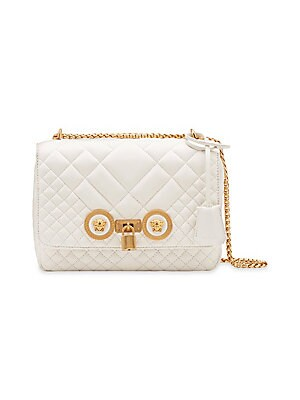 Versace - Small Quilted Icon Shoulder Bag - saks.com 42e2407fa02a1