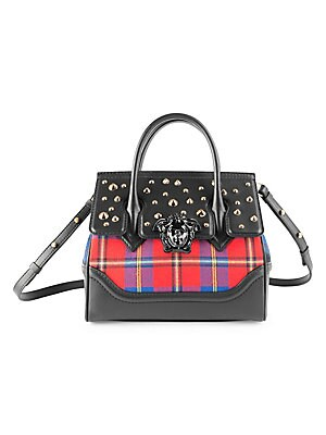 d70060f1eae7 Versace - Tartan Palazzo Empire Top Handle Bag - saks.com