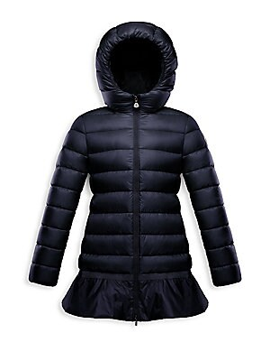fbcc17237b407a Moncler - Little Girl's & Girl's Nadralingue Ruffle Quilted Coat - saks.com