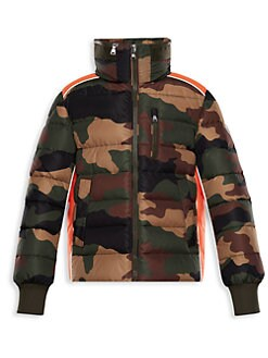 Moncler. Little Boy's & Boy's Bremes Camo Jacket