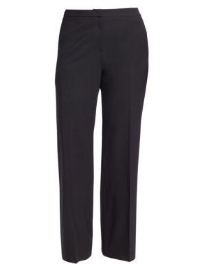 MARINA RINALDI Stretch Wool Pants in Black