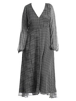 d8a5e8c5d Marina Rinaldi, Plus Size. Houndstooth Check Midi Dress