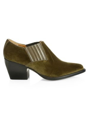 Rylee Velvet Ankle Boots by Chloé
