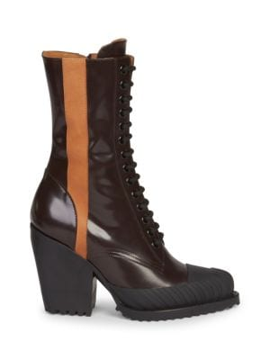 Chloe Burgundy Rylee Tall Hiking Boots, Black
