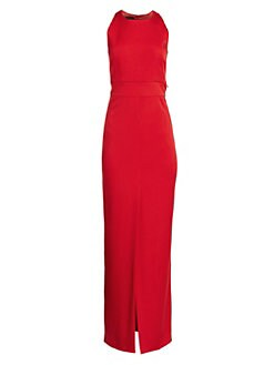 20a0c839f1 Akris. Sleeveless Zip Waistband Silk Crepe Gown