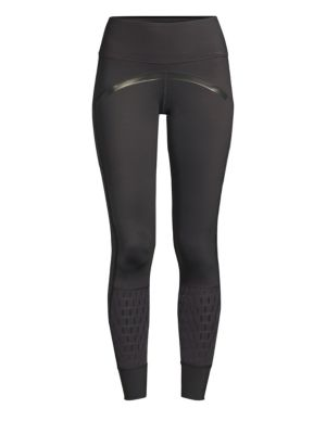 Believe This High-Rise Mesh Training Tights in Black