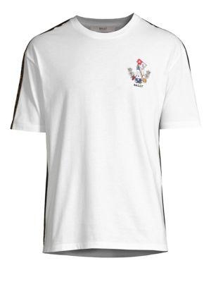 BALLY Men'S Animals Jersey T-Shirt, White