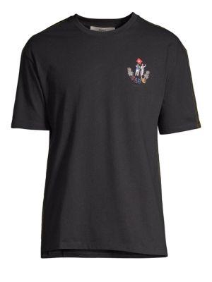 BALLY Men'S Animals Contrast-Trim T-Shirt, Black