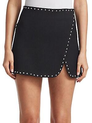 a6046f95a48d Helmut Lang - Studded Overlap Mini Skirt - saks.com