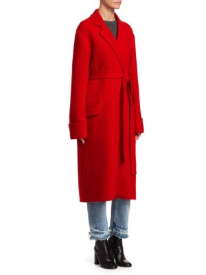 Belted Wool Blanket Coat, Siren